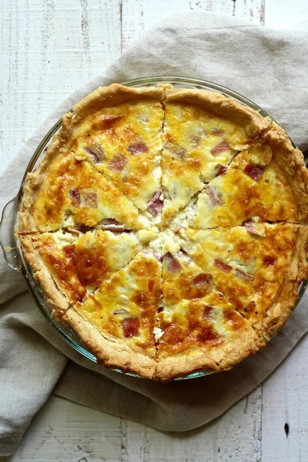 This French Beer Quiche is so flaky, buttery, and delicious! It's a must-try