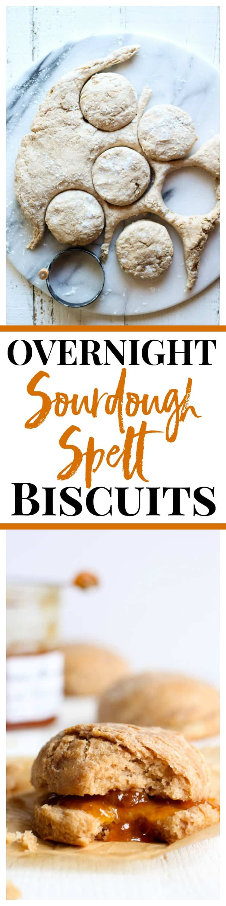 These overnight sourdough spelt biscuits are tender, buttery, and delicious!