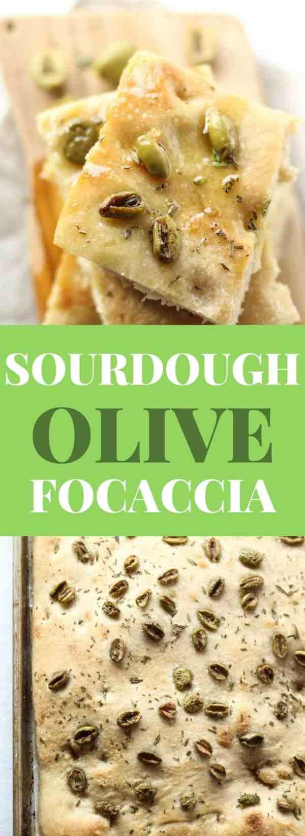 Sourdough Focaccia Bread recipe with olives and fresh rosemary. Focaccia bread easy, focaccia bread recipe Italian, sourdough focaccia bread