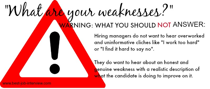 examples of weaknesses job interview - Yelom.myphonecompany.co