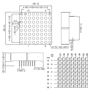 How to Easily drive a an LED dot matrix display: 8x8 or 5x7 LEDs