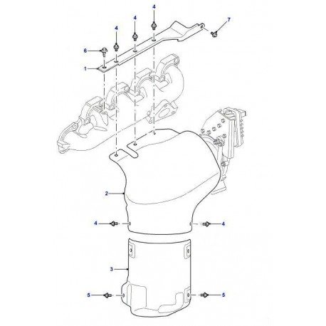 defender td4 puma exhaust manifold heat shield