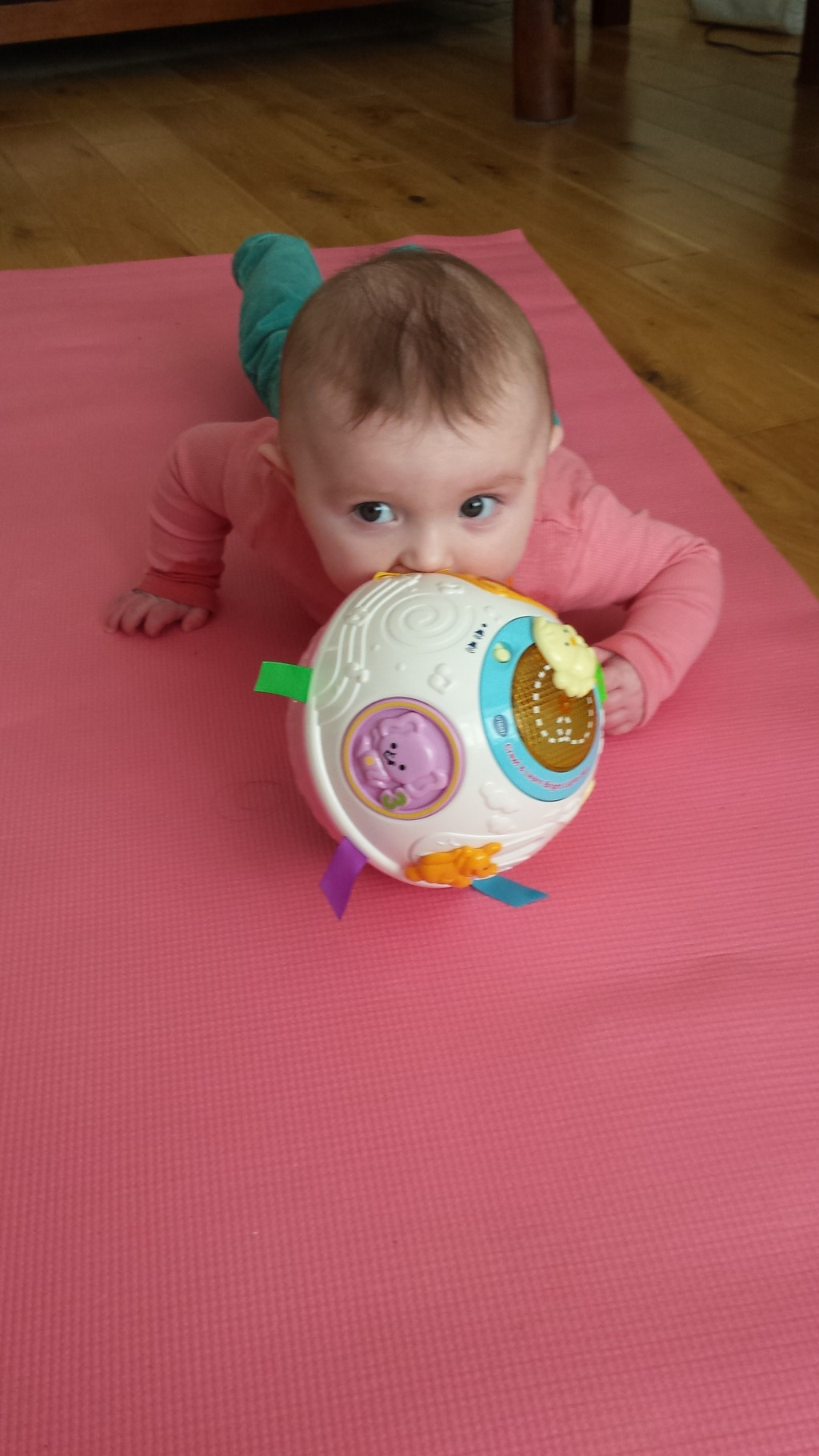 vtech crawl learn ball pink is best baby crawling toy