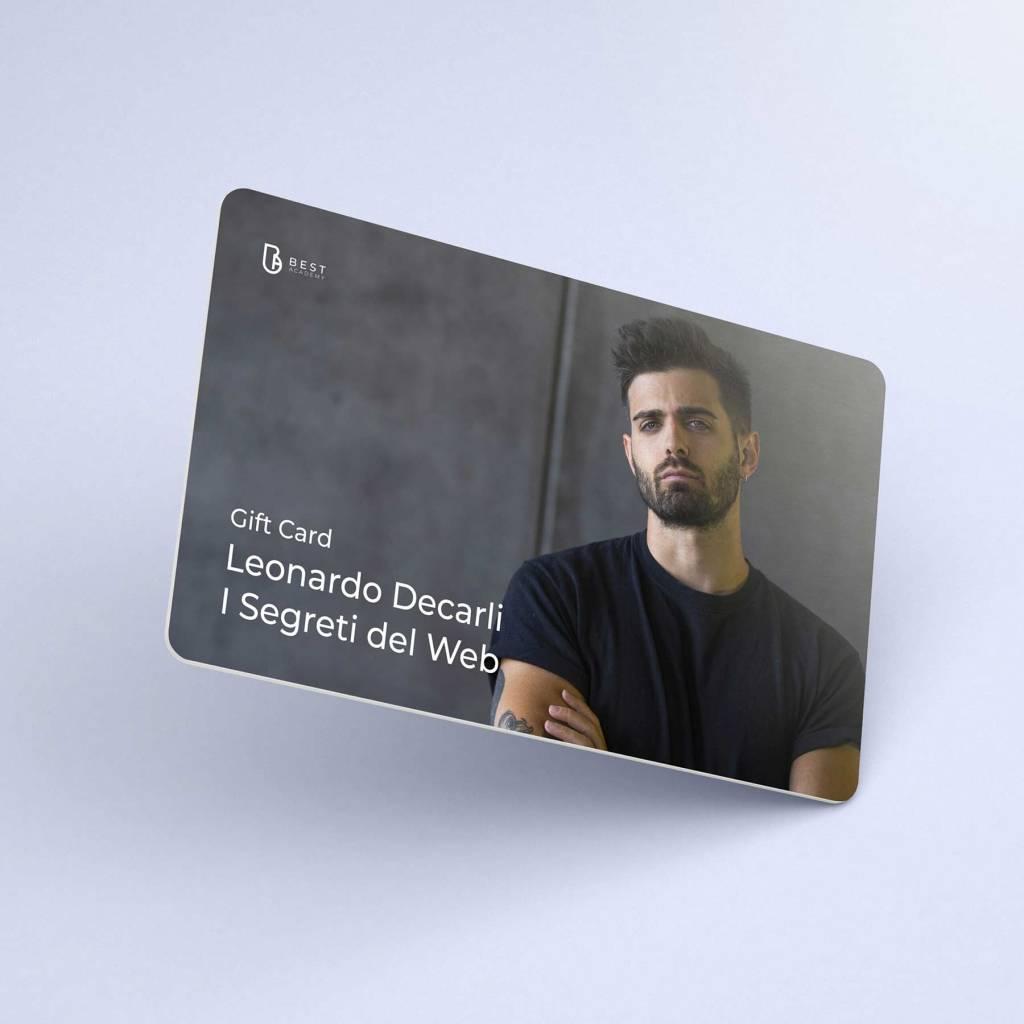 Gift Card Corso per diventare uno youtuber famoso con Leonardo de Carli