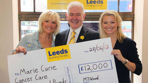 £12,000 donation to Marie Curie Cancer Care