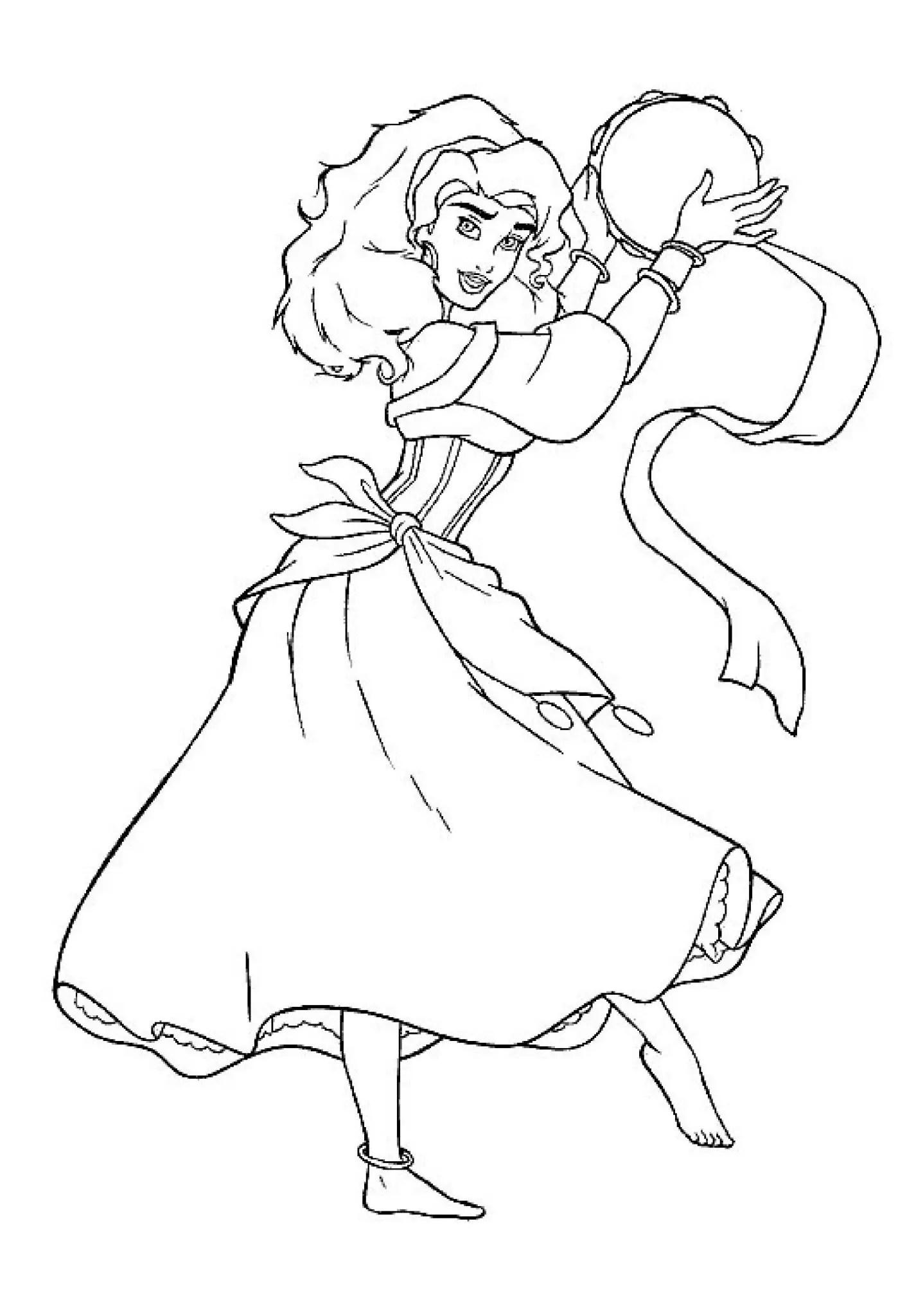 Disney Coloring Pages Print Princess