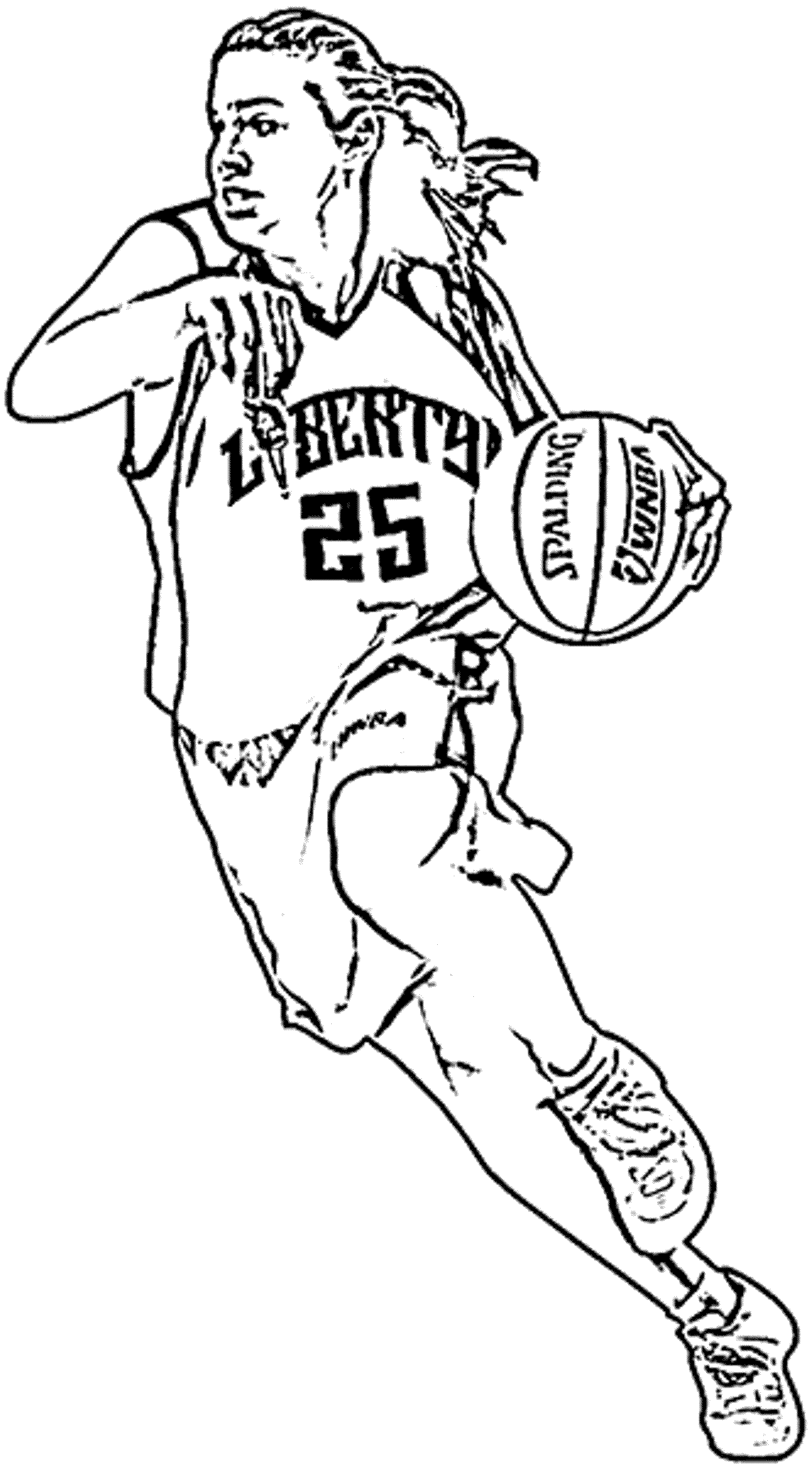 Coloring Pages For Basketball Players