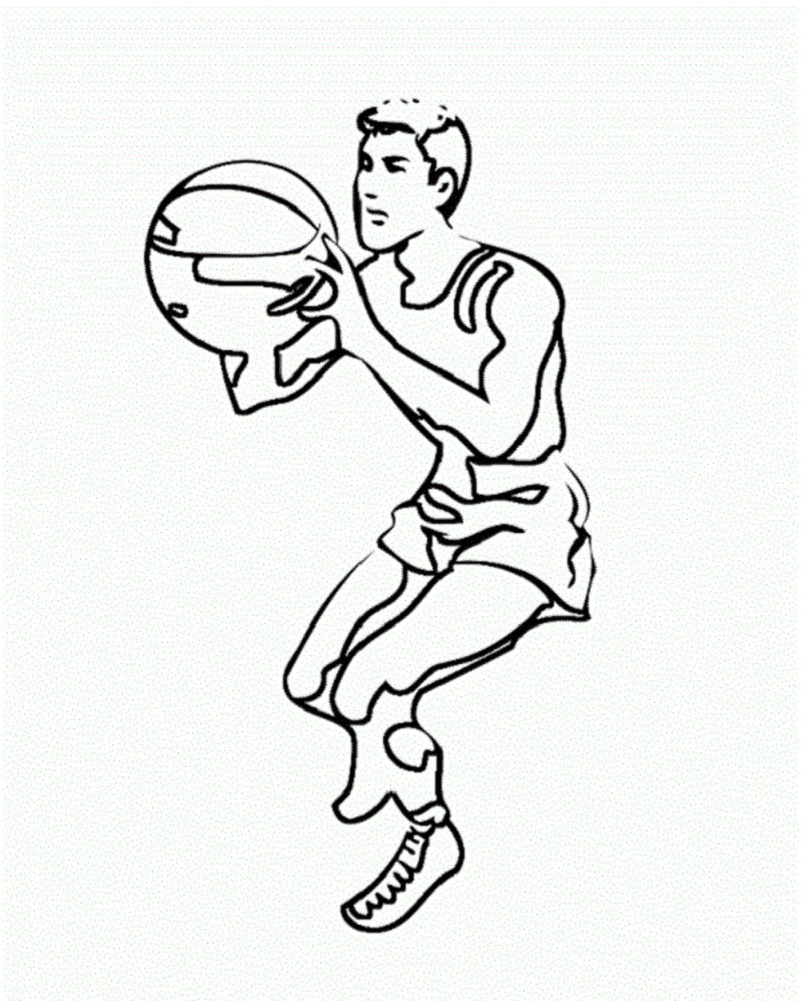 Print & Download - Interesting Basketball Coloring Pages