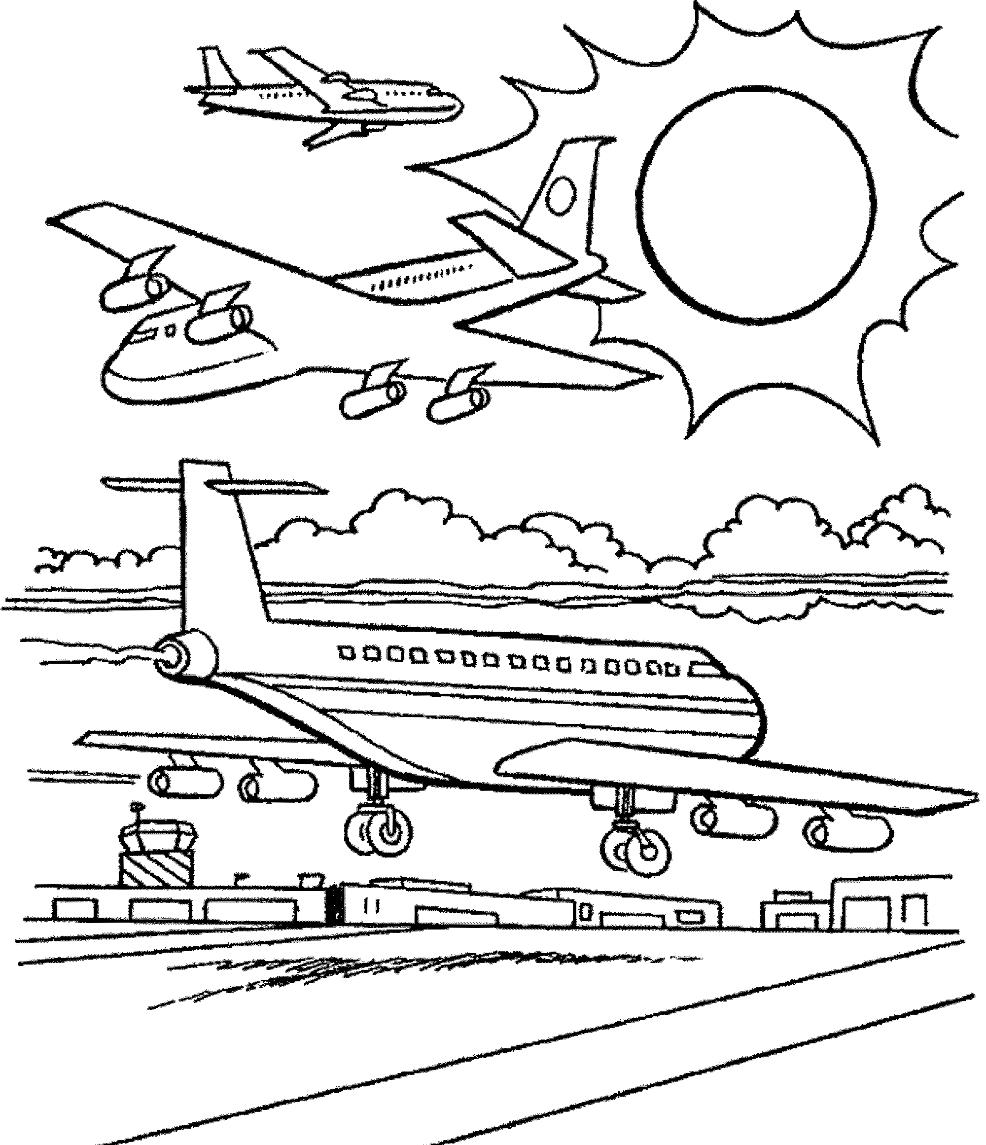 Airplane coloring pages for adults