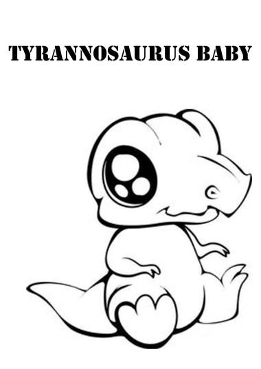 babytyrannosaurustrexdinosaurcoloringpages
