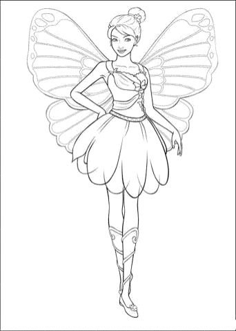 barbie-fairy-coloring-pages
