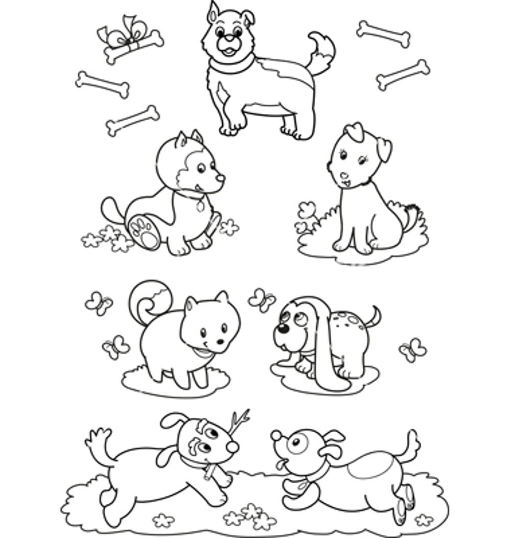 Christmas Dog Coloring Pages Bestappsforkids