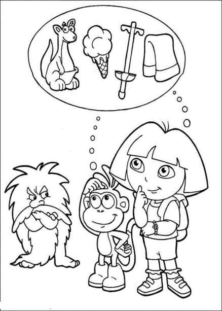 coloring-pages-dora-and-friends