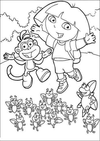 coloring-pages-of-dora-and-boots