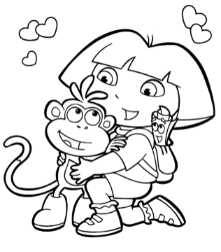 colouring-pages-online-dora-and-diego