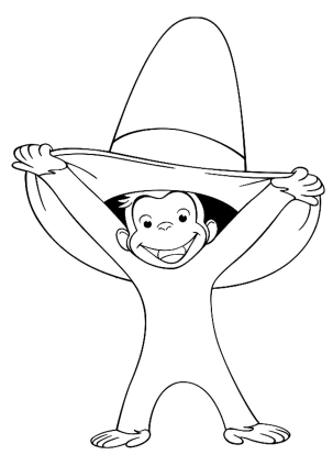 curious-george-big-hat-coloring-pages