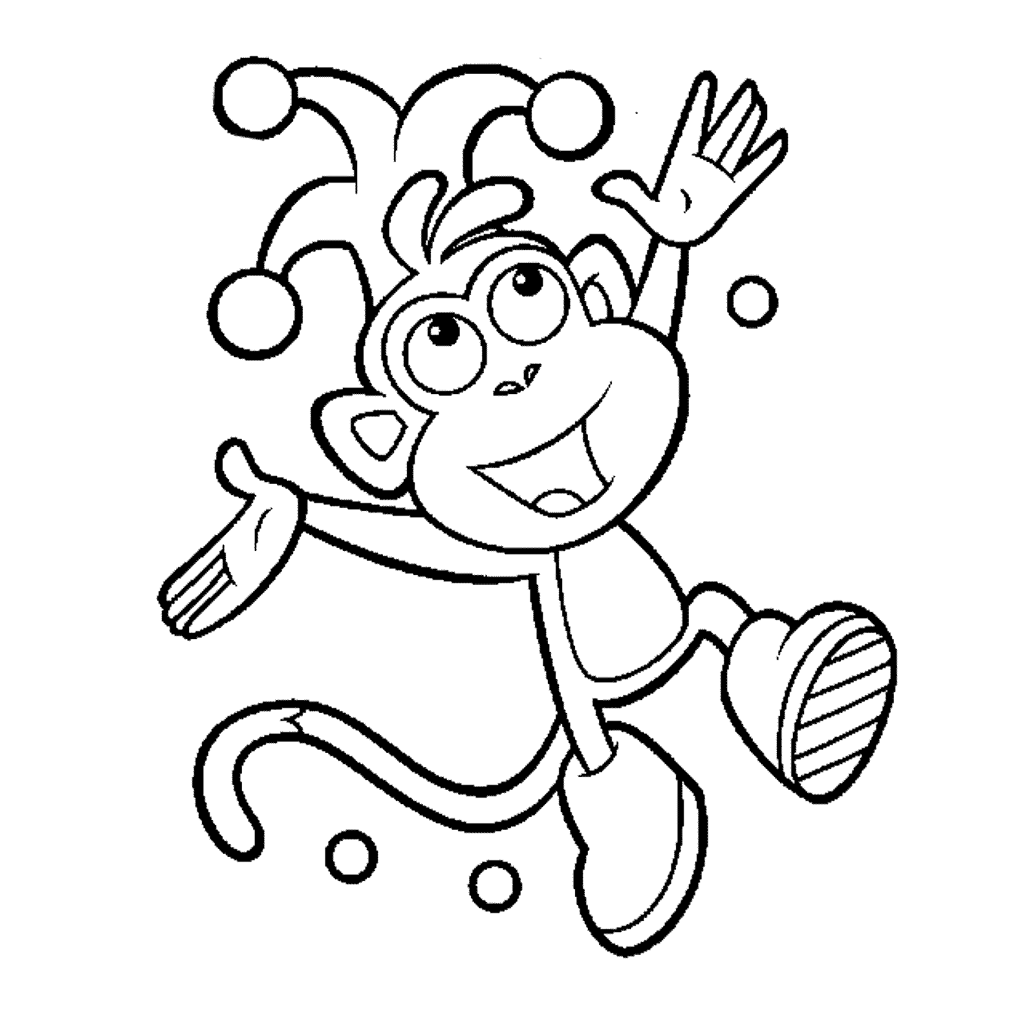 Dora Educational Coloring Pages