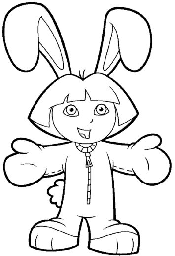 dora-explorer-coloring-pages-games-rabbit