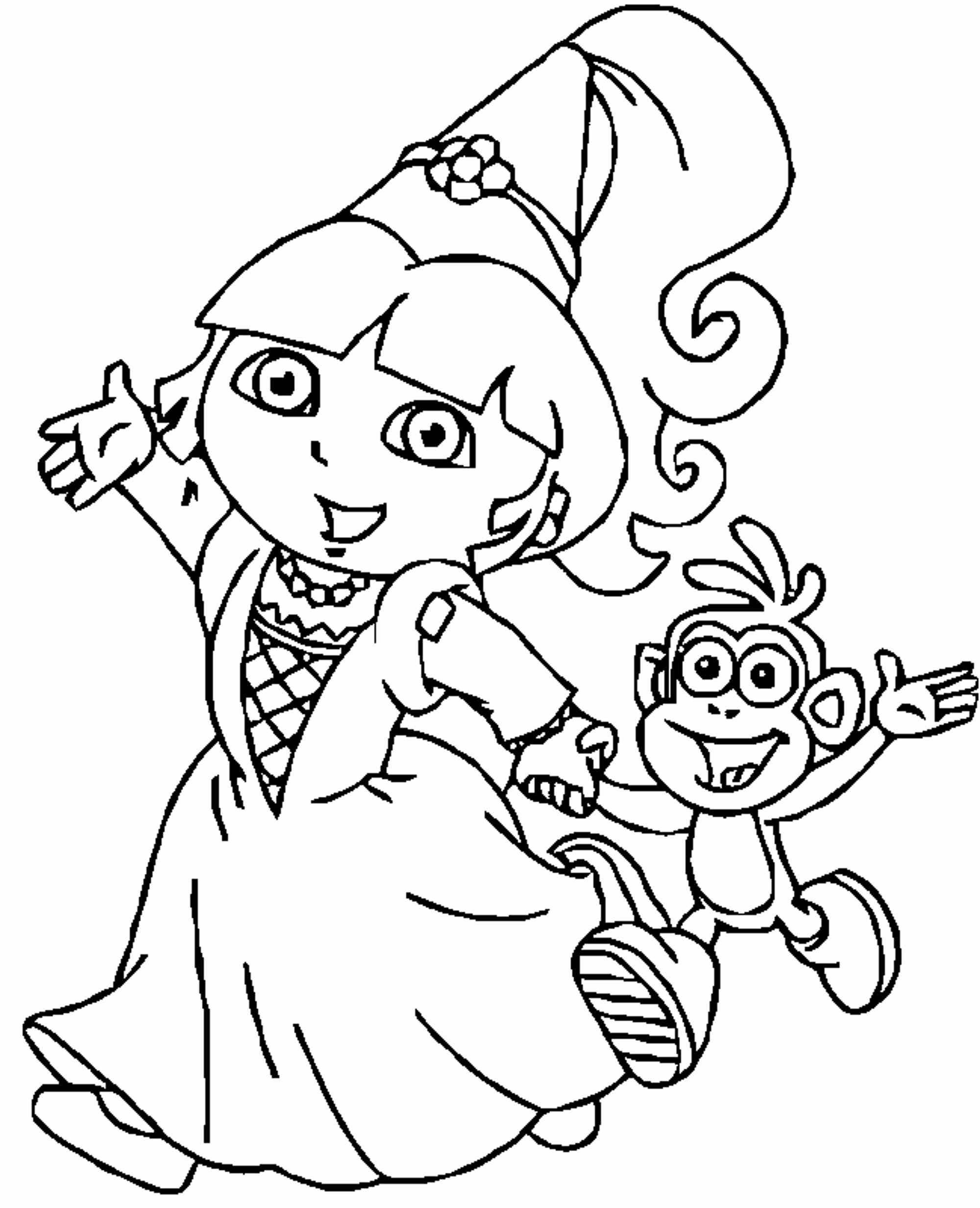 Print Download Dora Coloring Pages To Learn New Things