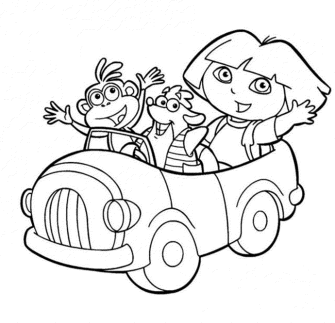dora-the-explorer-coloring-pages-to-print-car