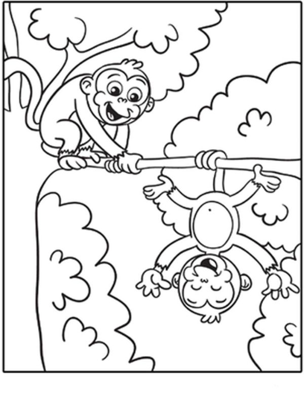 coloring pages of monkeys # 28