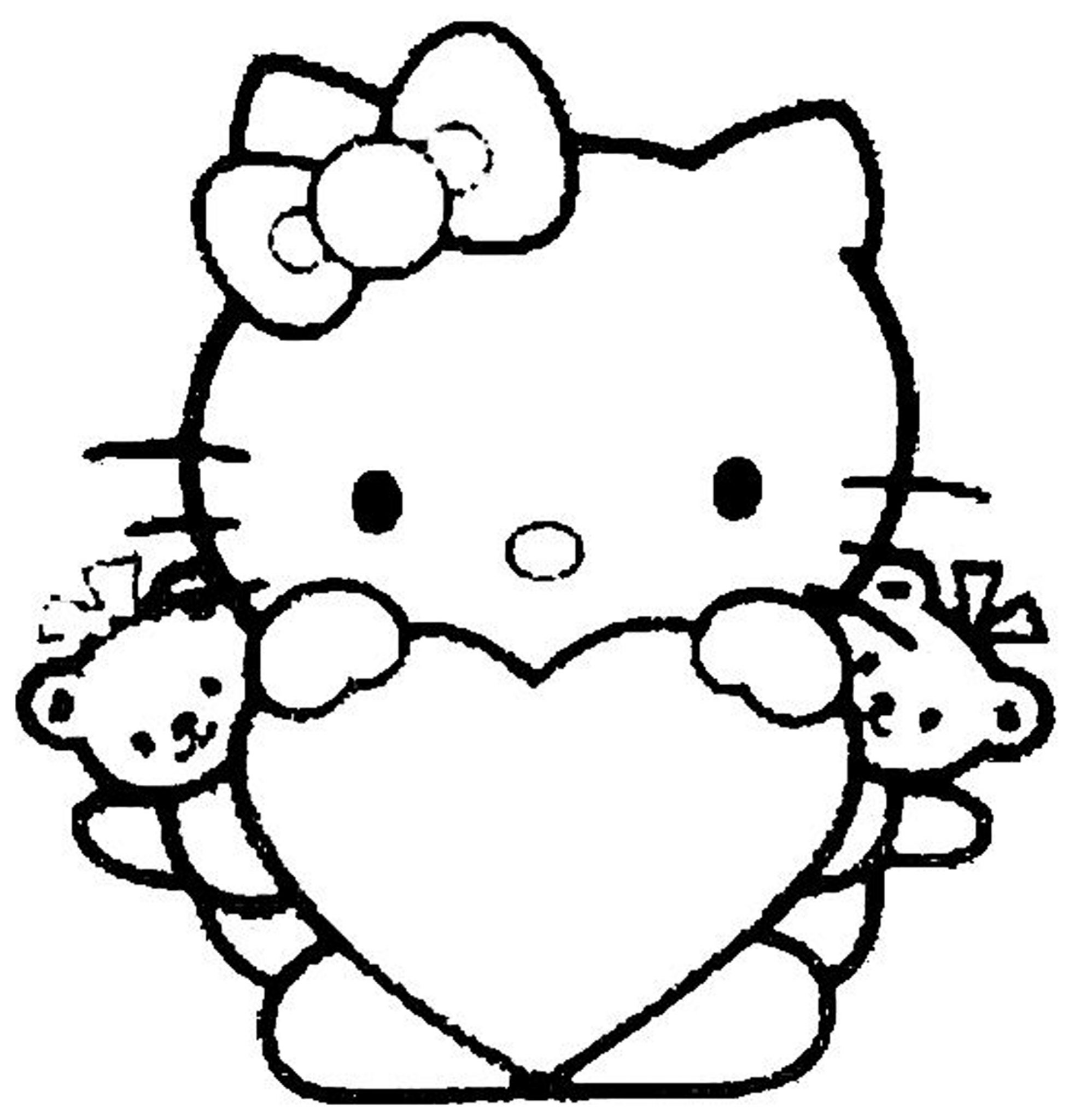 Hello Kitty Color Pages For Girls