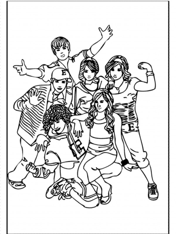 high school musical coloring pages # 12