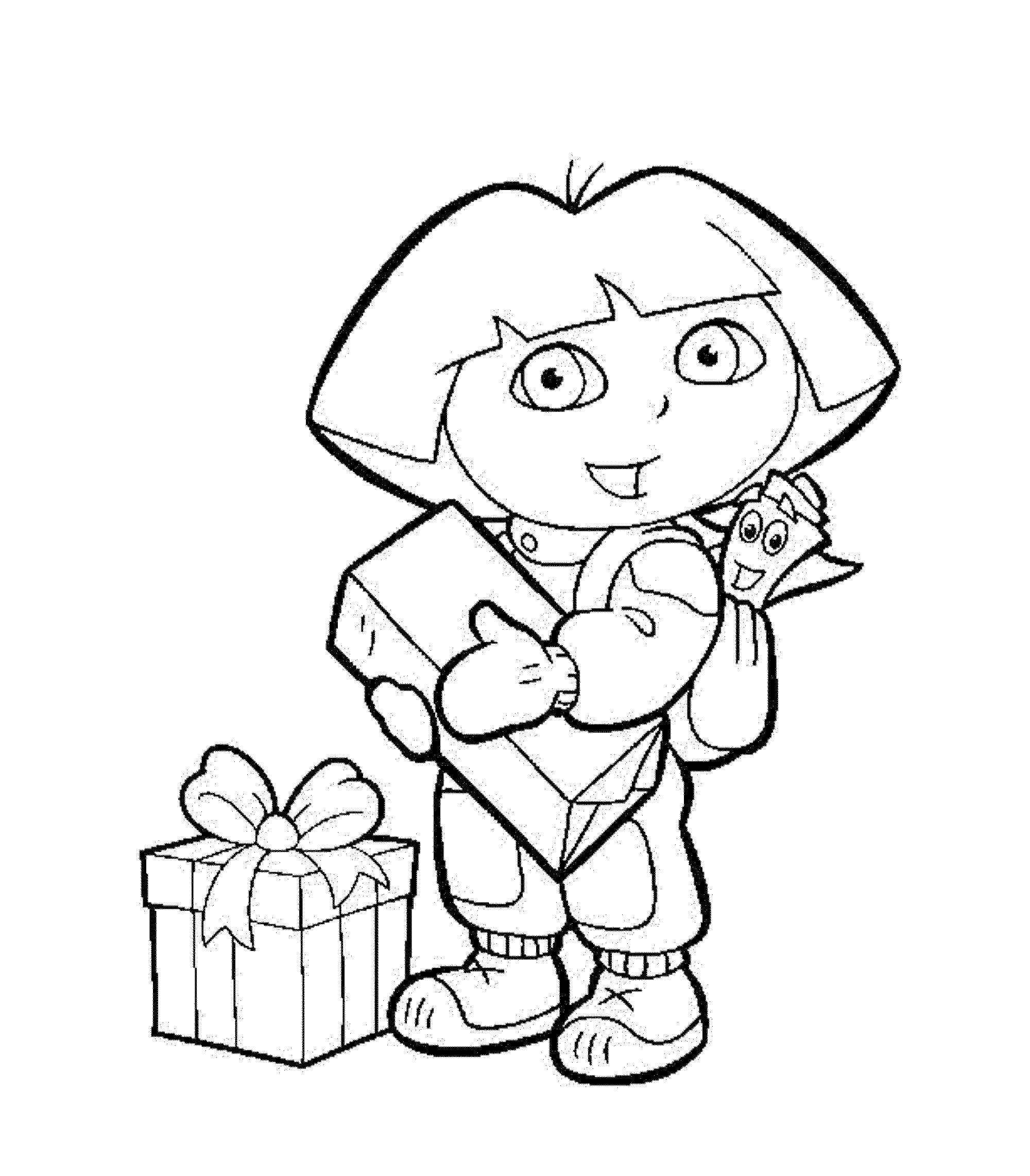 Printable Dora Coloring Pages