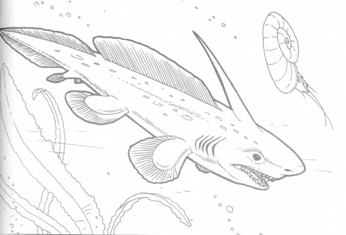 Printable Sea Dinosaur Coloring Pages For Kids