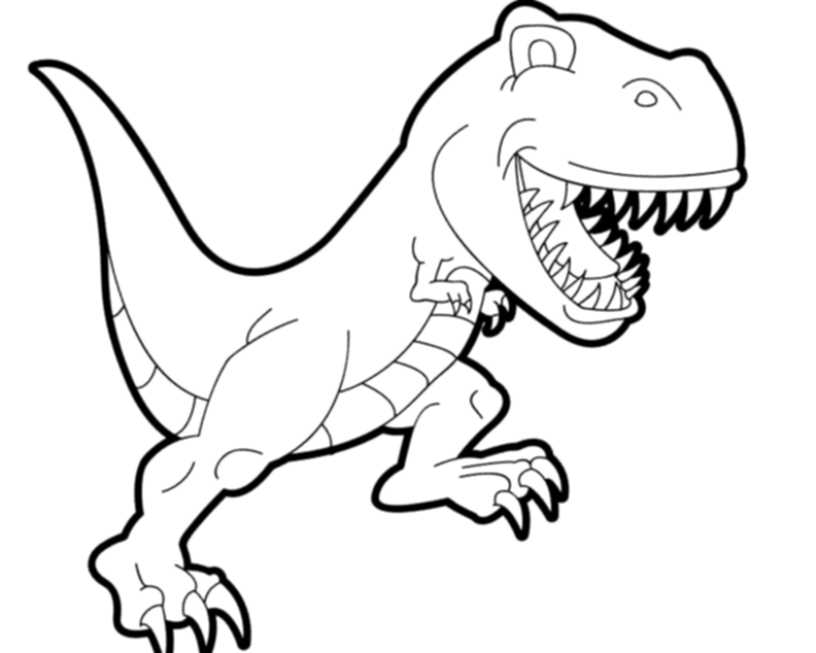 Print Download Dinosaur T Rex Coloring Pages For Kids