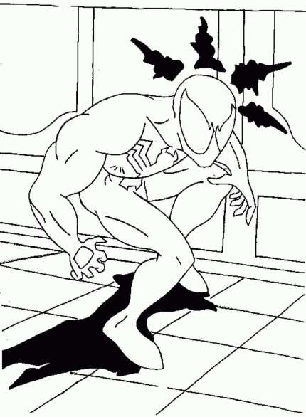 black-spiderman-coloring-pages