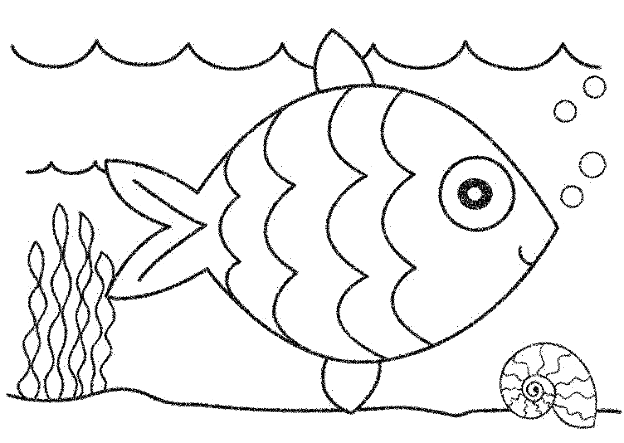 Print & Download - Cute and Educative Fish Coloring Pages