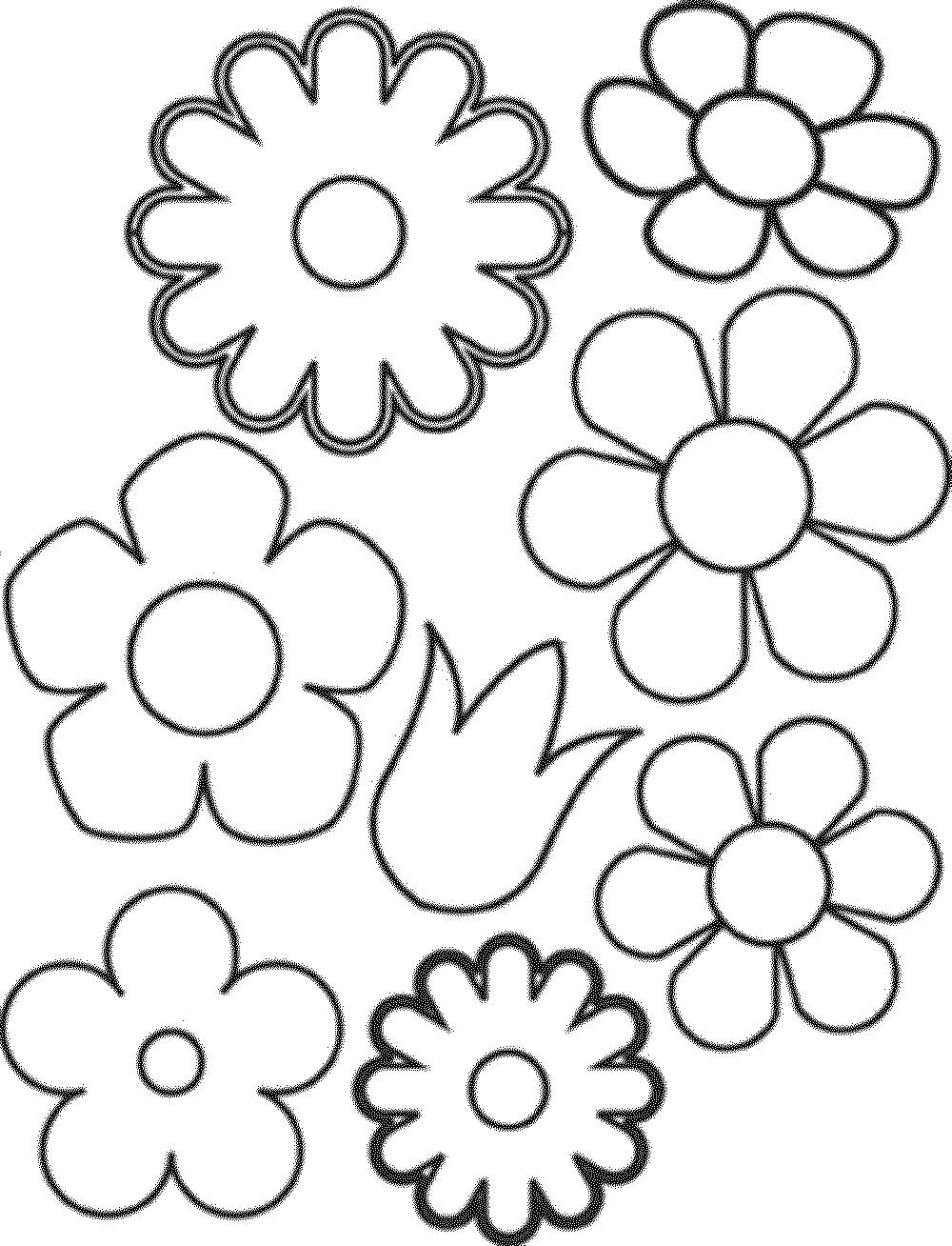 free printable easy flower coloring pages | Print & Download - Some Common Variations of the Flower ...
