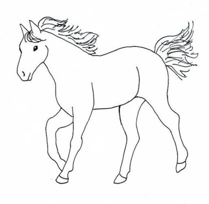 coloring-pages-horses