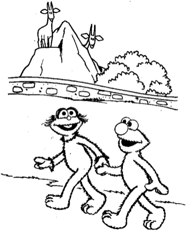 coloring-pages-of-elmo-and-friends