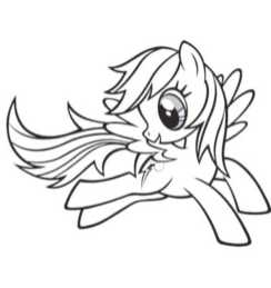 coloring-pages-rainbow-dash-fly