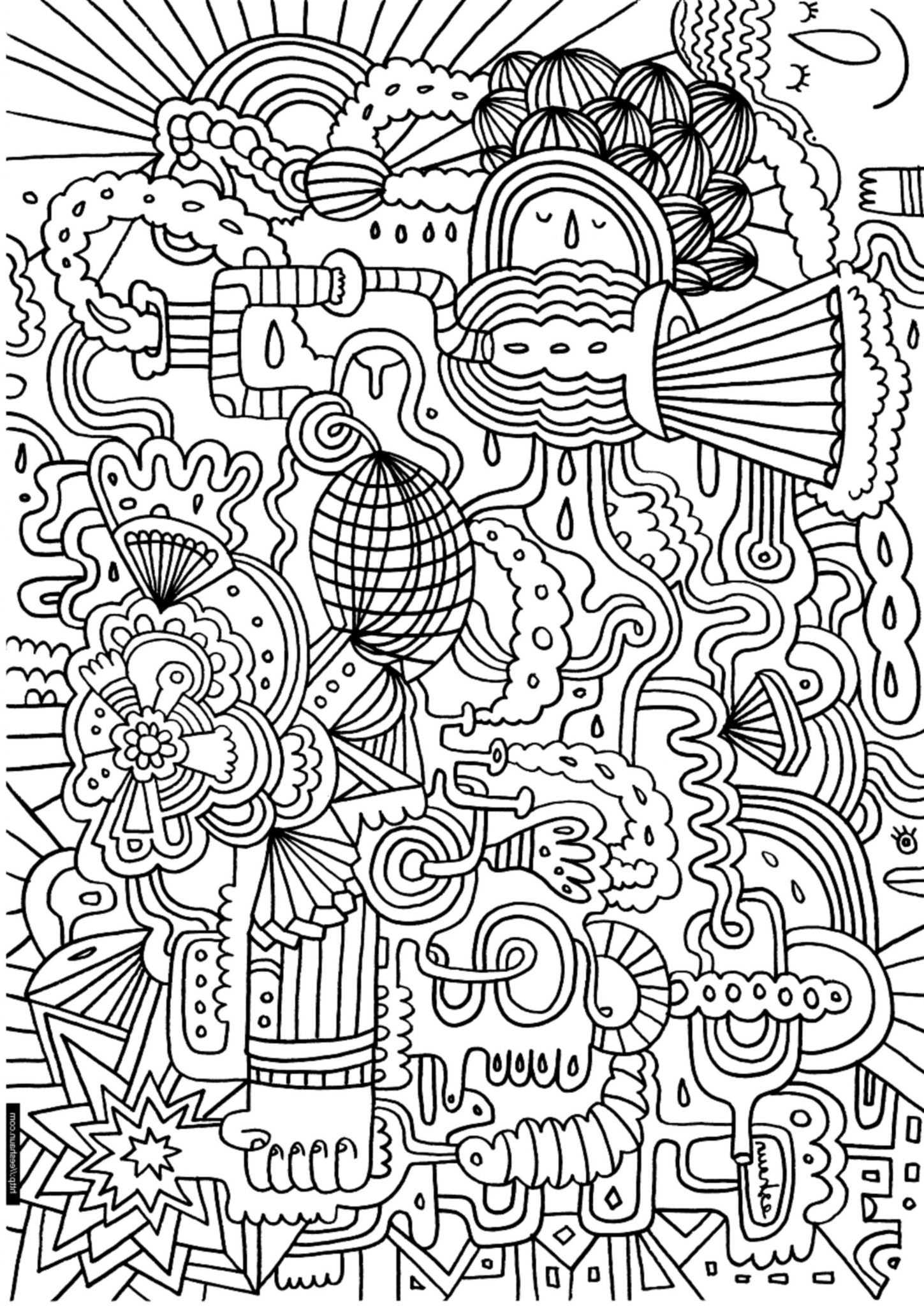 Print Amp Download Complex Coloring Pages For Kids And Adults
