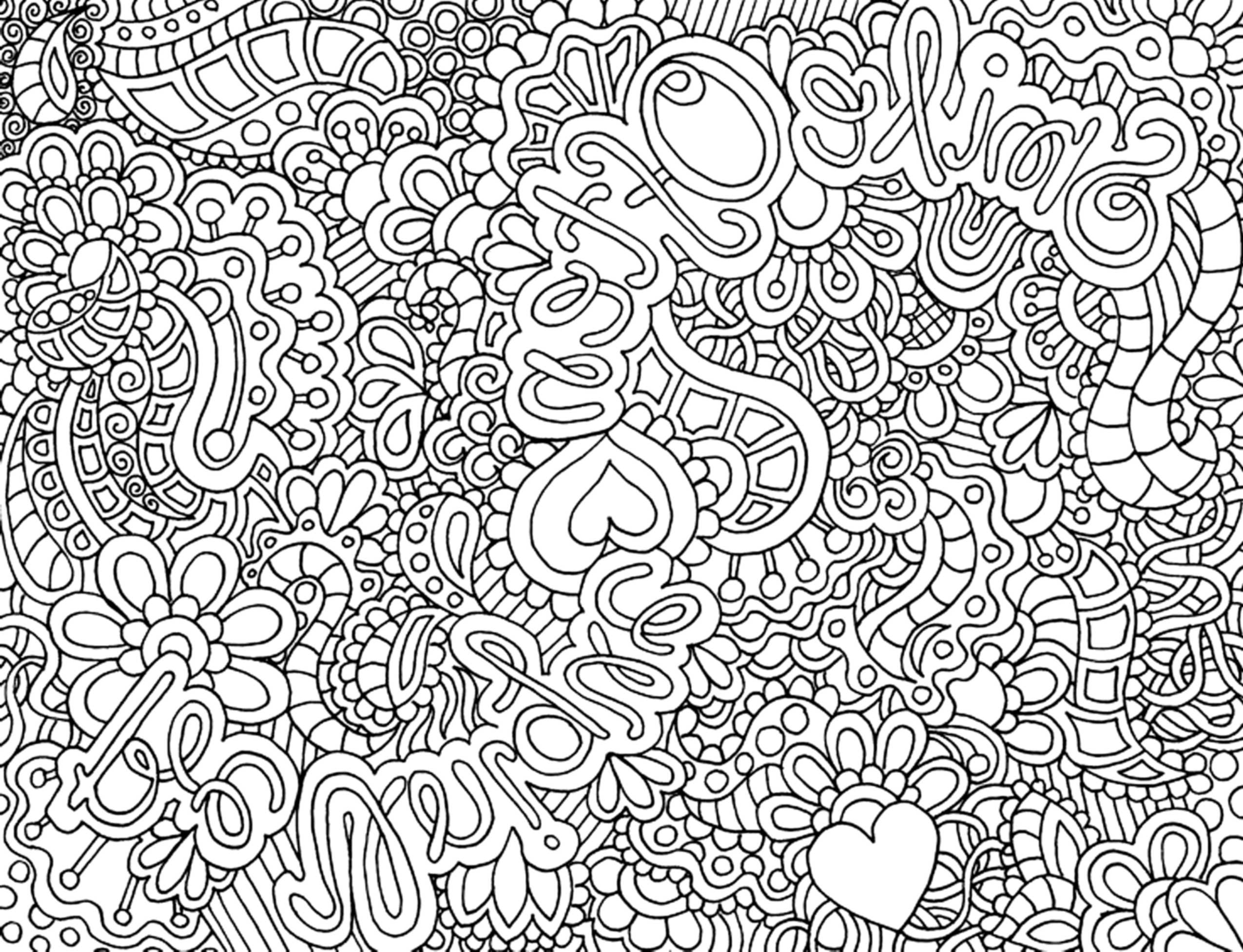 complicated coloring pages for download - photo#10