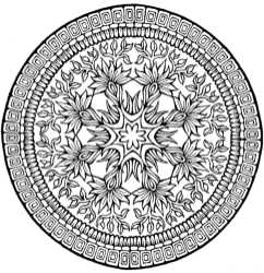 complicated coloring pages for download - photo#13