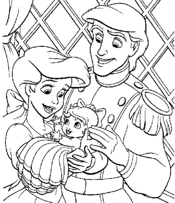 princess color page # 9