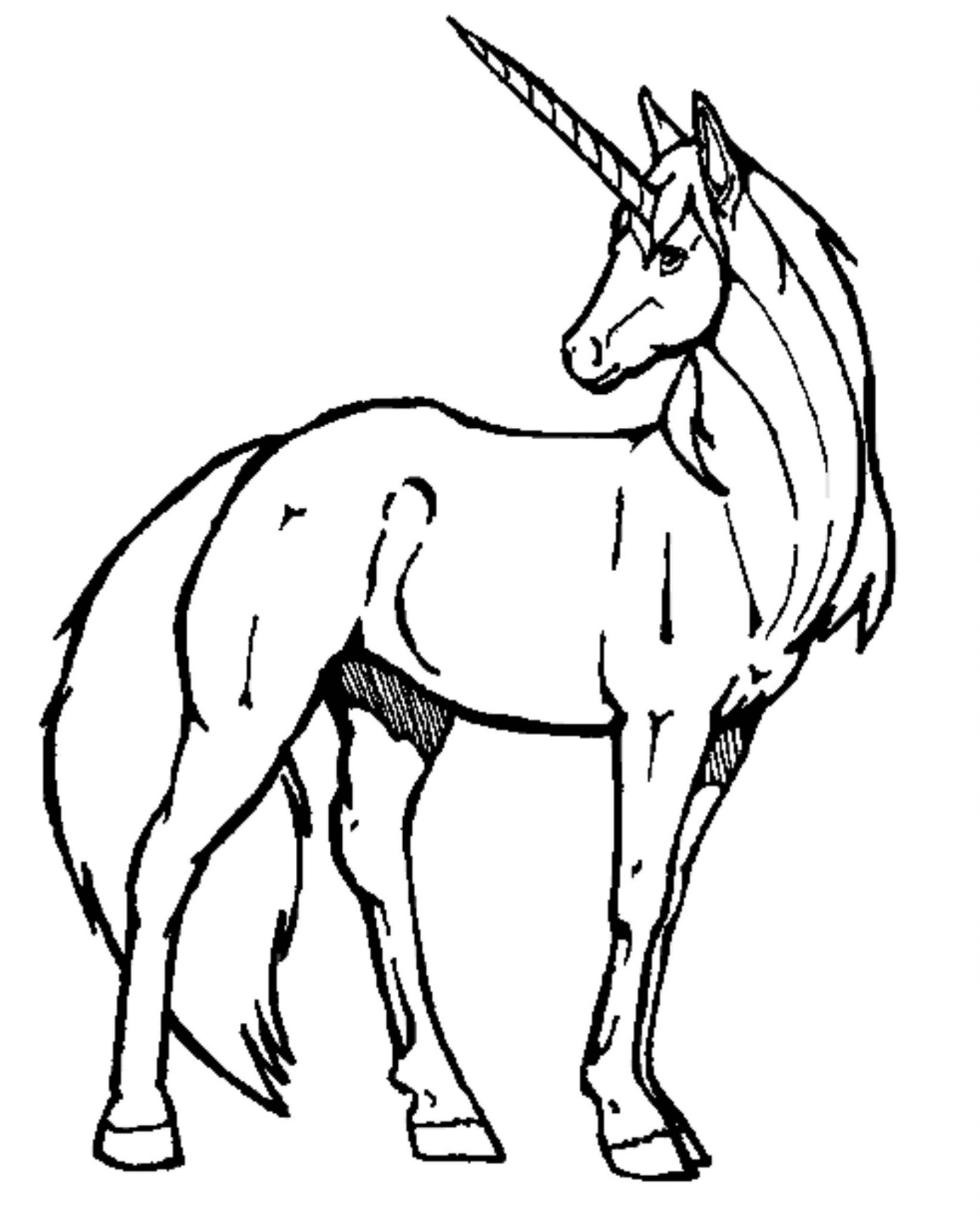 Easy unicorn coloring pages