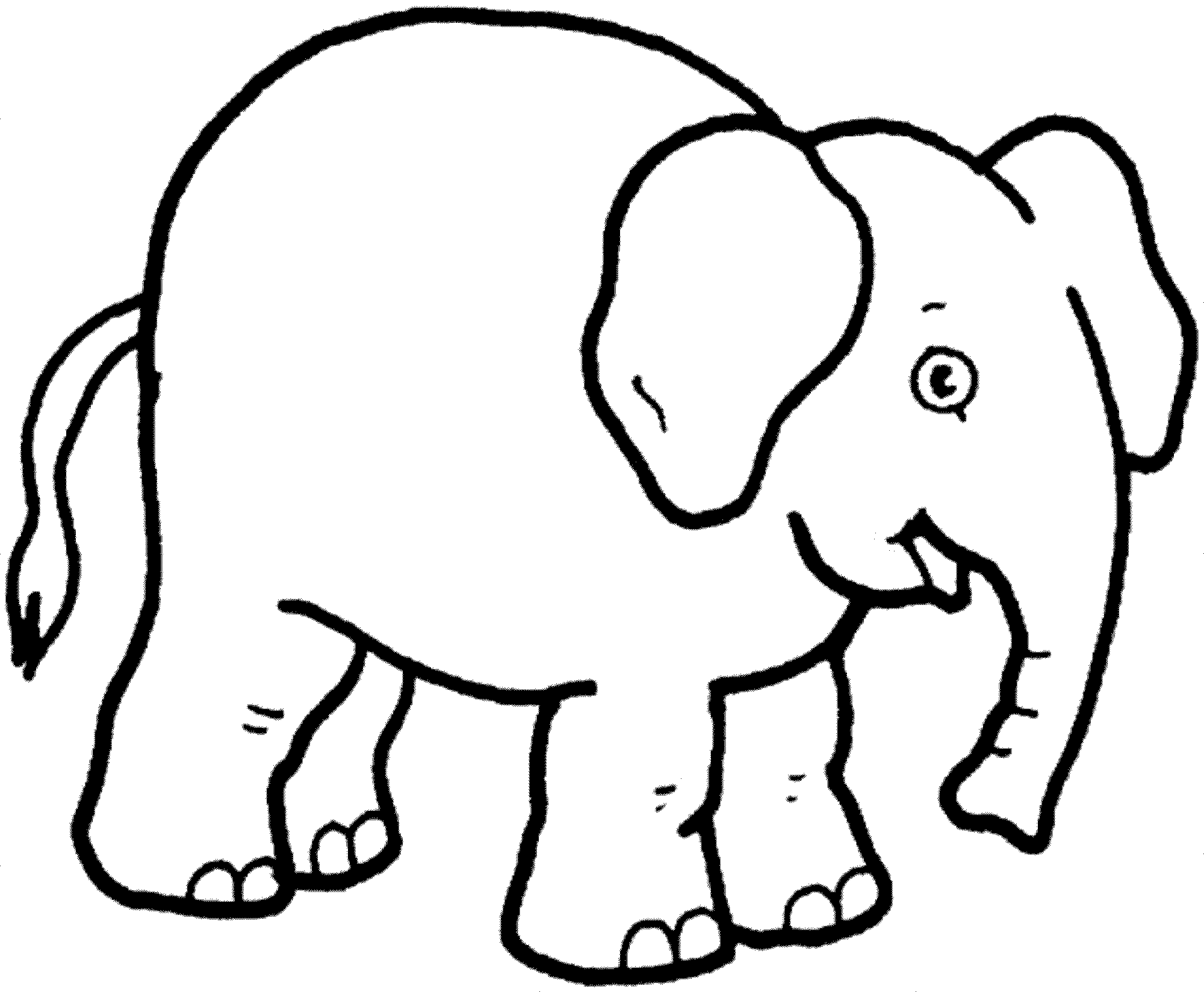 Print & Download - Teaching Kids through Elephant Coloring Pages