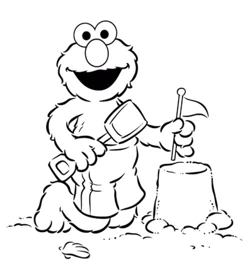 elmo-coloring-pages-printable-in-beach