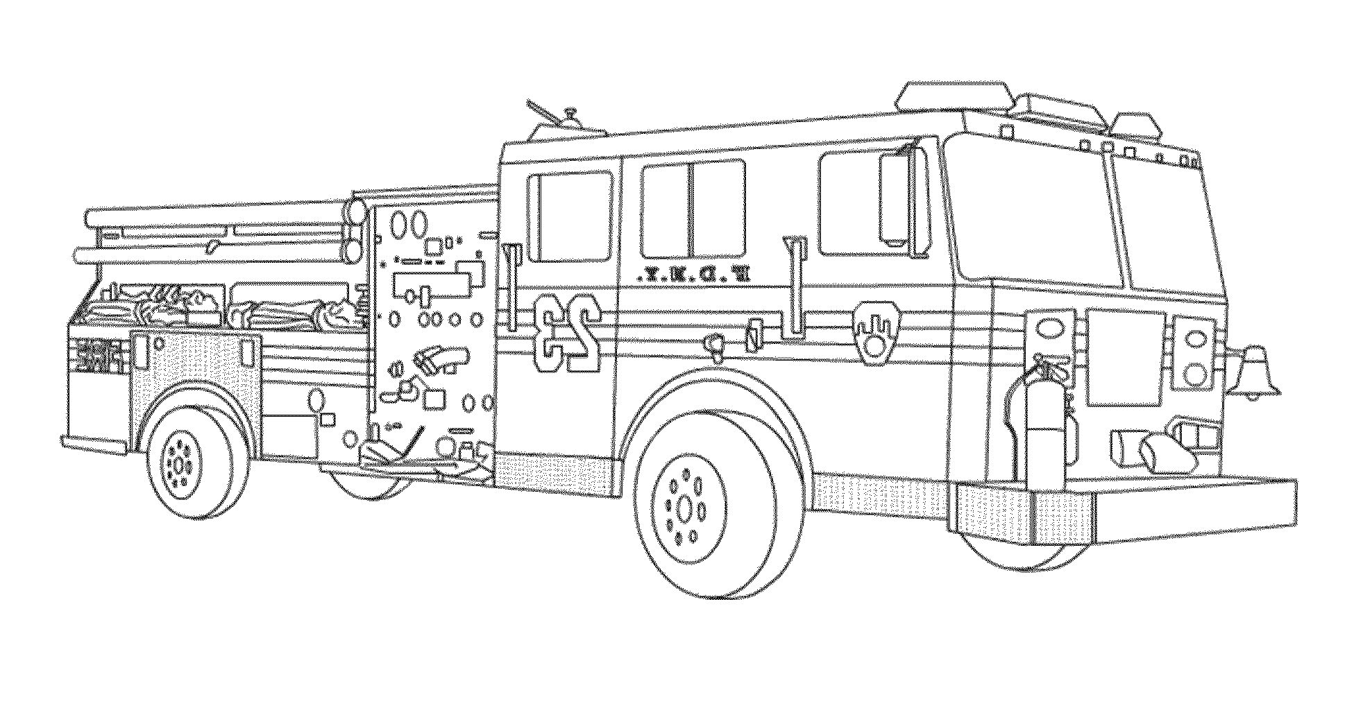 Fire Truck Color Pages