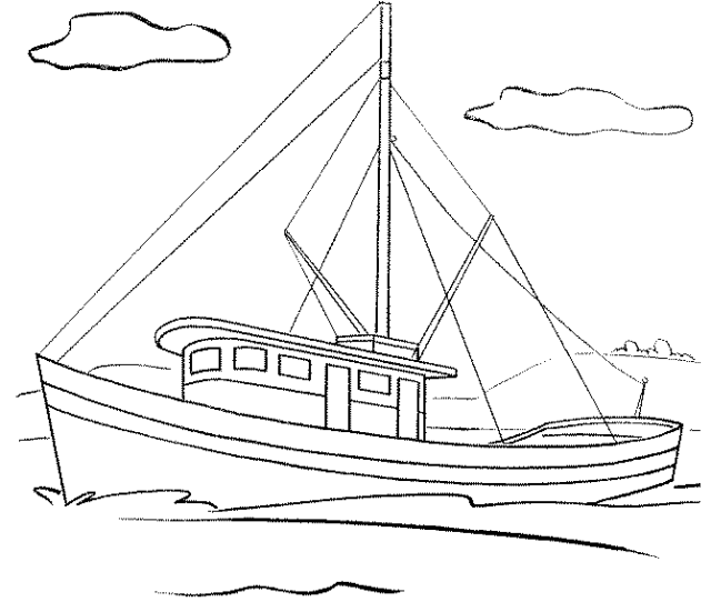 Fishing Boat Coloring Pages Bestappsforkids Com