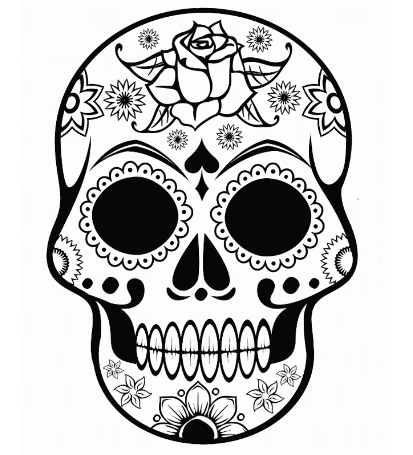 Print & Download - Sugar Skull Coloring Pages to Have Scary-but ...