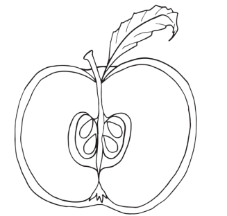 fruit-apple-coloring-pages