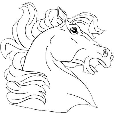 horse-head-coloring-page
