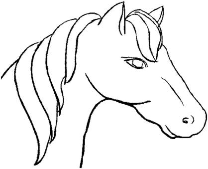 horse-head-coloring-pages