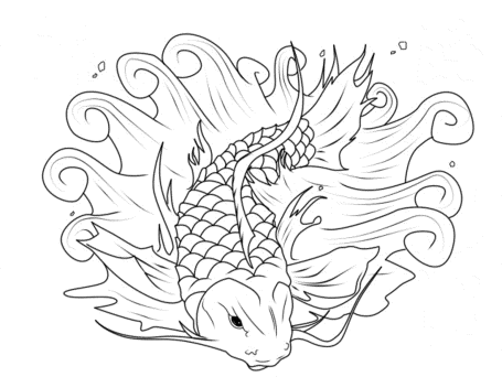 koi-fish-coloring-page